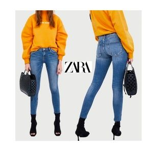 NEW Zara Body Curves Push Up Skinny Jeans Jeggings